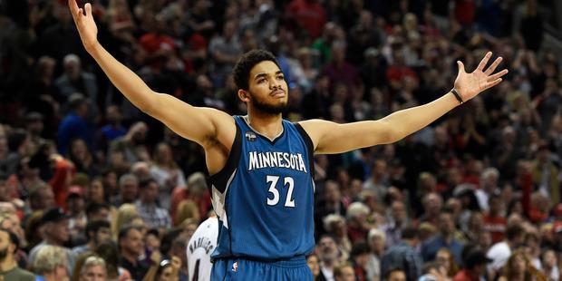Prince was a big fan of the Minnesota Timberwolves. Photo / AP