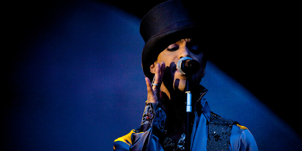 In this 2011 photo, Prince performs on the Isle of Amager in Copenhagen, Denmark. Photo / AP