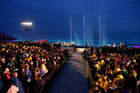 People observe a minute of silence during the Dawn Service ceremony at the Anzac Cove in Gallipoli. Photo / AP