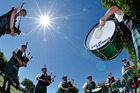 City of Rotorua Highland Pipe Band.  Photo/Stephen Parker
