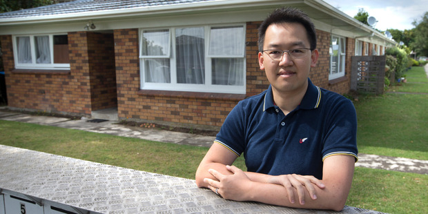 Gary Lin, an Auckland landlord aged 32 who has 11 rental properties. Photo / Nick Reed