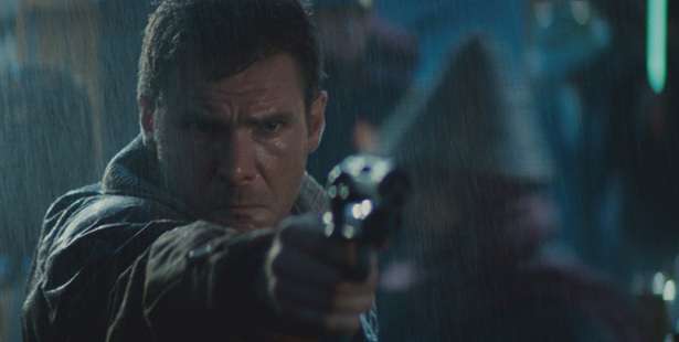 Harrison Ford as Detective Rick Deckard in a scene from the 1982 film Blade Runner. Ford will reprise his role in the sequel which will be released next year.