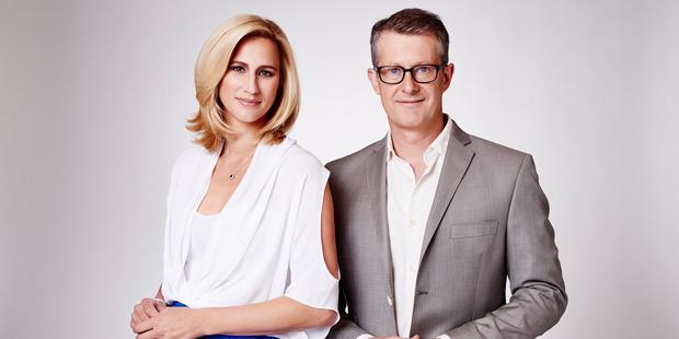 'Fair Go' presenters Pippa Wetzell and Gordon Harcourt.