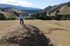 Hawkes Bay Regional Council chief executive Andrew Newman at the site of the proposed Ruataniwha Dam near Tikokino, Hawkes Bay. Photo / Mark Mitchell