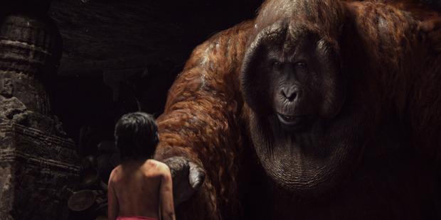 Mowgli and King Louie in Disney's The Jungle Book.