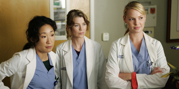 A scene from the TV show Grey's Anatomy.