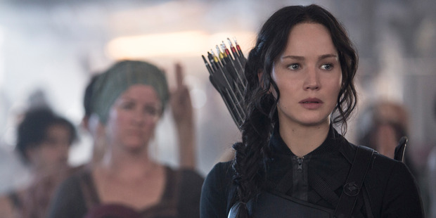 The females stars including here Katniss Everdeen do not have as many words compared to the male cast.
