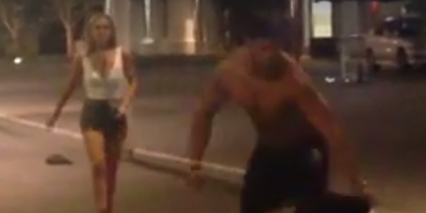 Footage of the Downtown brawl posted on Facebook last month went viral. Photo / via Facebook