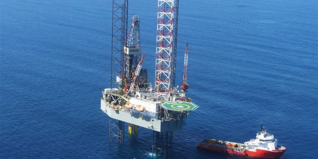 The Kupe gas field rig off the Taranaki coast. NZ Oil and Gas says there's more oil and gas in the field than previously thought.