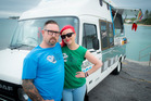 Otis Frizzell and Sarah Frizzell of The Lucky Taco Food Truck. Photo / Michael Craig