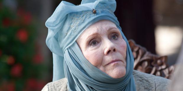 Actress Diana Rigg plays Olenna Tyrell.