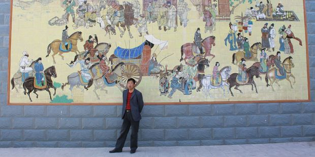Replica of a picture from the Mogao Caves in Dunhuang city. Photo / Jim Eagles