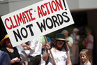 Climate change rally in Hastings ahead of the Paris Climate Talks. Photo / Hawkes Bay Today