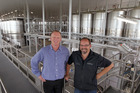 JUICED: Capital projects division manager Richard Bullock and regional winemaker Paul Barber work closely together as the new Delegat winery nears completion. PHOTO/ Duncan Brown