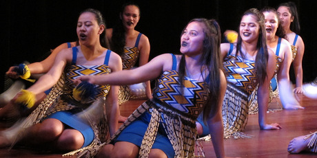 The kapa haka group at Bay of Islands College is fundraising for new uniforms. PHOTO / PETER DE GRAAF