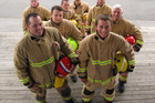 Kerikeri firefighters are training and fundraising for this year's Sky Tower Challenge. PHOTO / PETER DE GRAAF