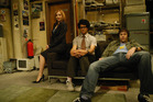 Jen Barber (Katherine Parkinson), Maurice Moss (Richard Ayoade), and Roy Trenneman (Chris O'Dowd) deliver the laughs in 'The IT Crowd'.