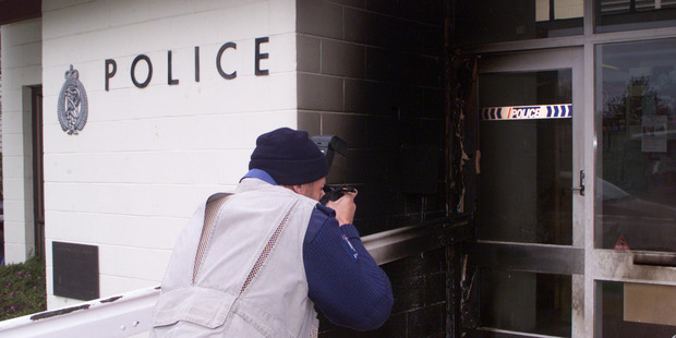 The Carterton police station was attacked by an arsonist in 2003. PHOTO/FILE