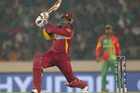 Chris Gayle in action. Photo / Getty Images