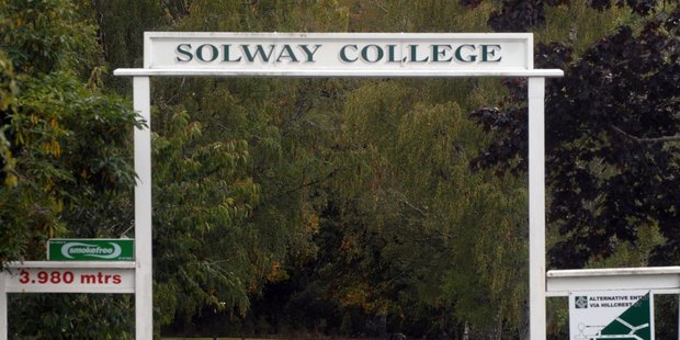 The entrance to Masterton's Solway College, which is at the centre of claims of long-running operating deficits and plans to sell school land. PHOTO/NATHAN CROMBIE