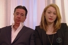 Comedian Stephen Colbert has recorded his own hilarious version of Johnny Depp and Amber Heard's awkward apology video. Source: CBS