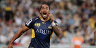 Brumbies wing Joe Tomane has scored five tries this season and leads the competition with 19 line breaks. Photo / Getty