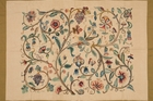 HANDICRAFT: Annie Wilson Jacobean Tapestry (The Tree of Life), wool embroidered on linen. Collection of the Sarjeant Gallery Te Whare O Rehua Whanganui. Gift of Lady Wilson, 1922.