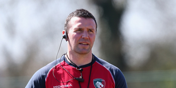 Aaron Mauger, the Leicester Tigers head coach. Photo / Getty