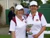 Hawke's Bay's latest bowls national champions Jo Hayes (left) and Louise Fitness who stamped their supremacy in Hamilton yesterday.