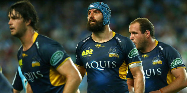 Brumbies players at lineout time. Photo / Getty