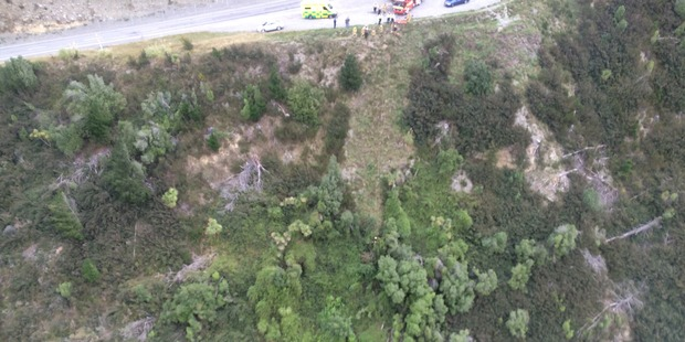 A man in his 40s fell from a cliff in Canterbury yesterday and died at the scene. Photo / Supplied