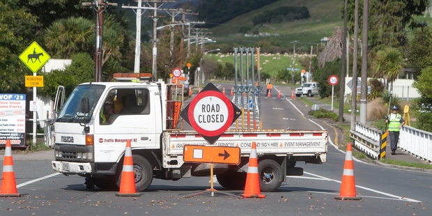 The road was closed for police to map the scene of the fatal crash. Photo / Ben Fraser