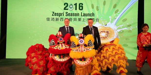 Zespri's sales in China are up 40 per cent on last year, overtaking Japan as a largest country market this year. Photo / Supplied