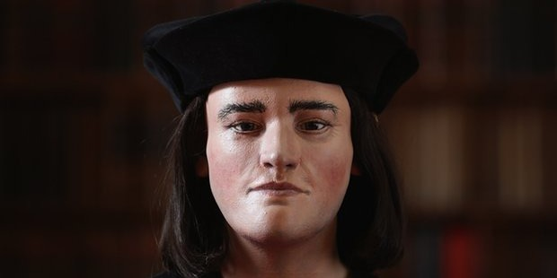 A facial reconstruction of Richard III, based on the remains discovered in Leicester. Photo /Getty Images