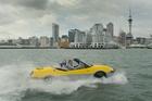 The Gibbs Aquada is capable of nearly 55km/h on water. Photo / Brett Phibbs