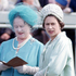 June 2, 1965: The Queen Mother and Queen Elizabeth II in the parade ring at the Epsom Derby in Surrey. Photo / Getty Images