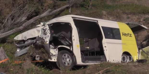 The Hertz rental van was travelling to Twizel before the crash. Photo / ODT