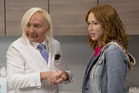 Martin Short as Dr. Grant and Ellie Kemper as Kimmy Schmidt. Photo / Eric Liebowitz, Netflix
