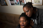 Romechia Simms, left, with her mother, Vontasha Simms, in their home in Waldorf. Photo / Washington Post