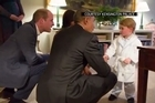 Obama capped his royal UK visit with a trip to Kensington Palace, where he and the first lady were invited for dinner with Prince William, his wife, Kate, and his brother, Prince Harry. He also met young Prince George.