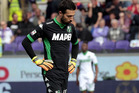 Andrea Consigli of US Sassuolo Calcio shows his dejection after scoring in his own net. Photo /Getty