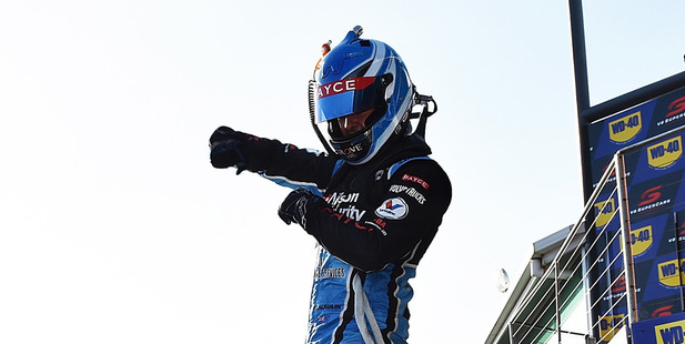 Scott McLaughlin celebrates his second win at Phillip Island. photo /Getty