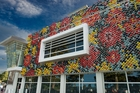 This external display on a wall of the MTG in Napier is up for one of three New Zealand museum awards.