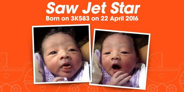 The baby was born on a Jet Star flight to Burma. Photo / Jet Star, Facebook