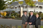 The new owners and managers of Rotorua's iconic Princes Gate Hotel (from left) Andrew French, David French and Phil Agent. Photo / Ben Fraser