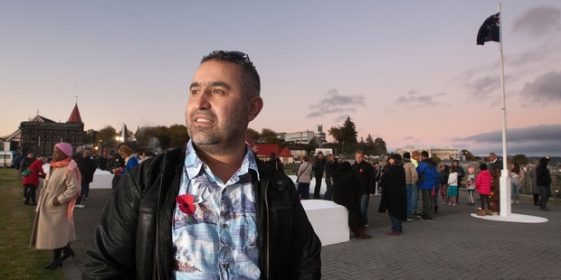 It was an emotional morning for Turkish-born New Zealand citizen Niyazi Gunaydin who attended his first dawn service yesterday. Photo / Ben Fraser