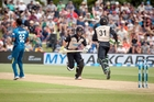 Kane Williamson and Martin Guptill steal a single at the sold-out T20 match against Sri Lanka held at Bay Oval in January. Photo/File