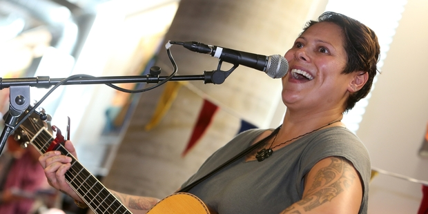 "SUPERSTAR:  ""Aunty"" Anika Moa, is a favourite with audiences of all ages. PHOTO/MICHAEL CUNNINGHAM"