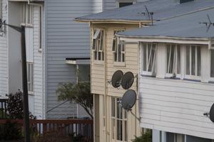 The house (centre) where gunman Pita Rangi Te Kira was found dead in a house on Kokiri Cres in Porirua. Photo / Mark Mitchell