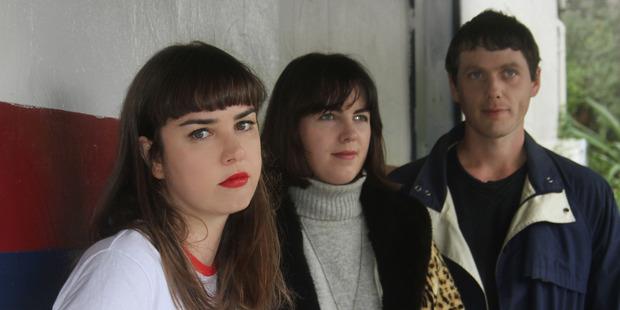 Emily Littler, Billie Rogers, and Christopher Varnham of Auckland band Street Chant.